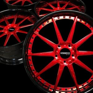 red custom wheels gv automotive products