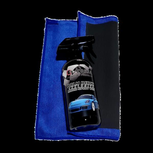 spray wax and clay towel